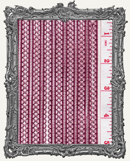 German Dresden Border Mini Scalloped PINK 16 Strips