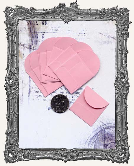 10 PINK Mini Envelopes - 1.5 Inch