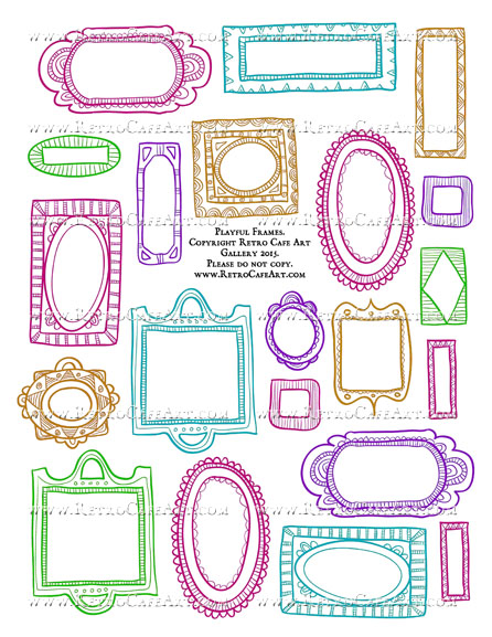Playful Frames Collage Sheet - Colorful