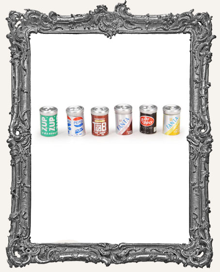 Tiny Soda Pop Cans - Set of 6