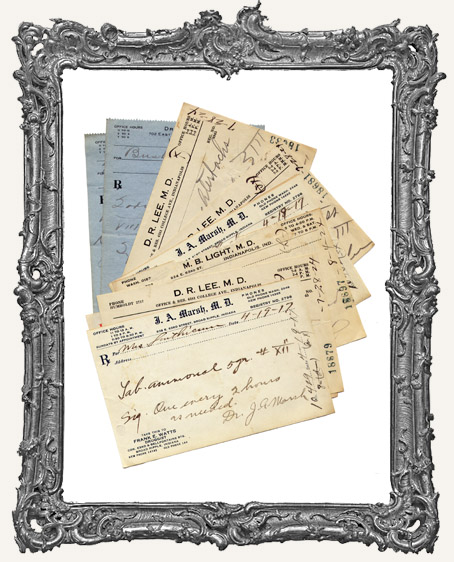 Authentic Vintage Medical Prescriptions - PACK OF 10