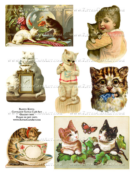Pretty Kitty Collage Sheet