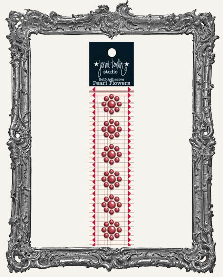Jenni Bowlin Studio Pearl Flowers - Maraschino