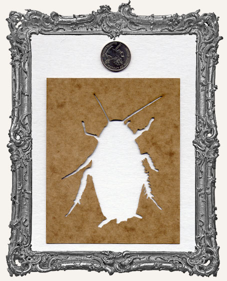Creepy Cockroach Stencil