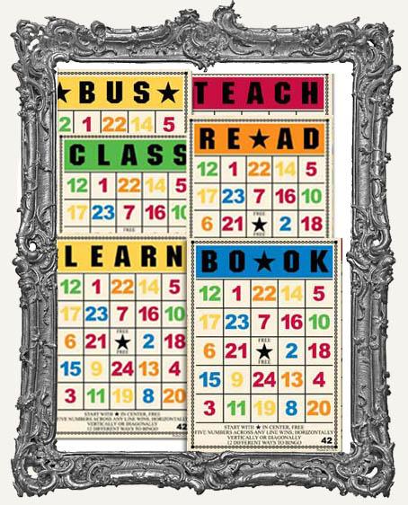 Jenni Bowlin Studio Bingo Cards 5 x 7 Inch SCHOOL DAYS - 6