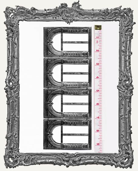 German Dresden Door or Window Archways SILVER 4 Piece