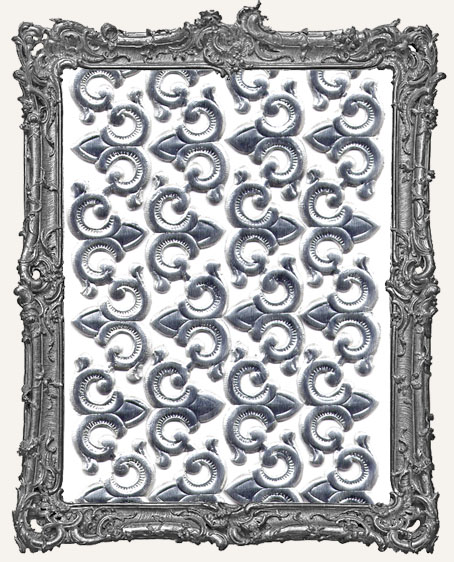 German Dresden SILVER Swirls or Corners 48 Pieces