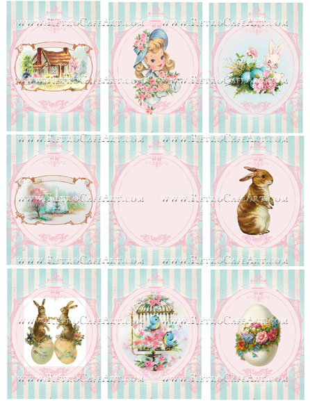 Spring Backgrounds Collage Sheet by Cassandra VanCuren - CV108