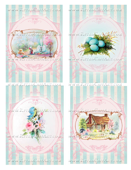 Large Spring Backgrounds Collage Sheet by Cassandra VanCuren - CV109