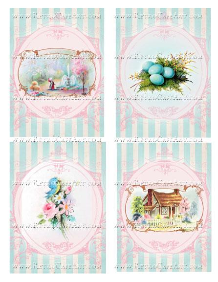 Large Spring Backgrounds Collage Sheet by Cassandra VanCuren - CV109