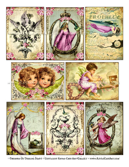 Angel Prophecy ATC Size Collage Sheet by Debrina Pratt - DP324