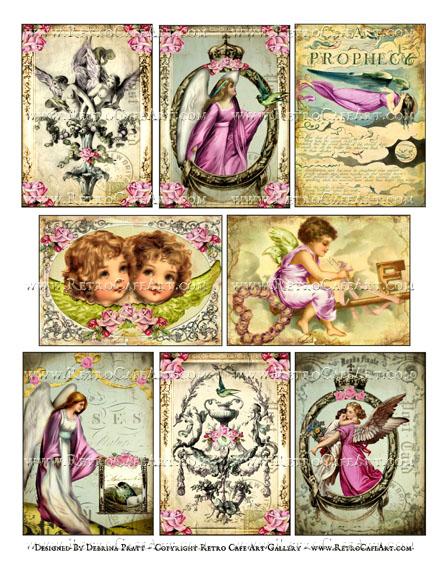 Angel Prophecy ATC Size Collage Sheet by Debrina Pratt - DP324