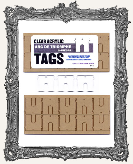 Clear Acrylic Tags - ARC DE TRIOMPHE