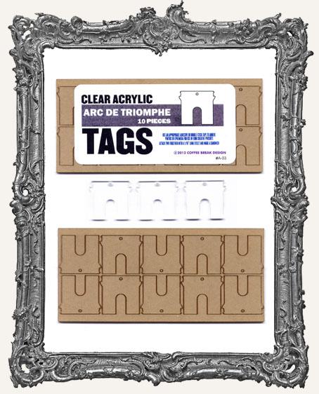 Clear Acrylic Tags - ARC DE TRIOMPHE