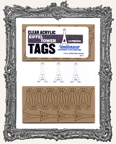 Clear Acrylic Tags - EIFFEL TOWERS
