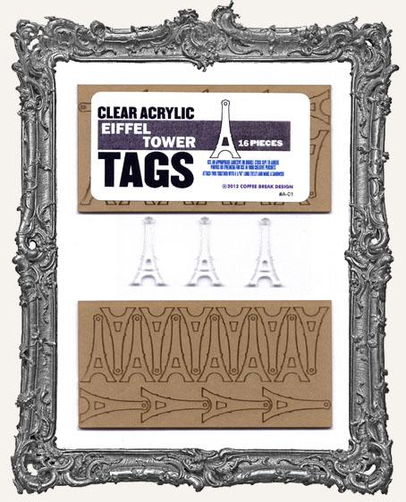 Clear Acrylic Tags - EIFFEL TOWERS