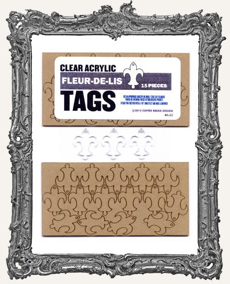 Clear Acrylic Tags - FLEURS-DE-LIS