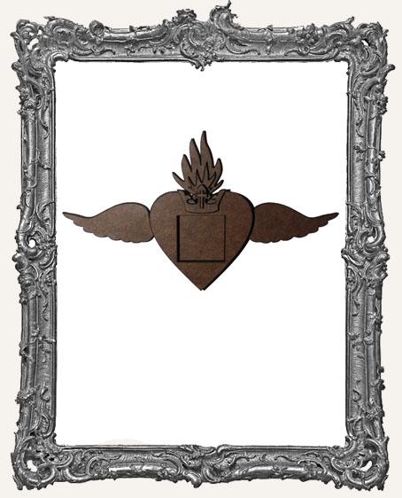 Elegant Winged Heart Milagro Shrine