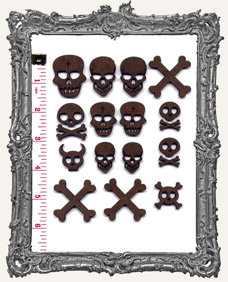 Skull and Crossbone Cut-Outs - 18 Pieces