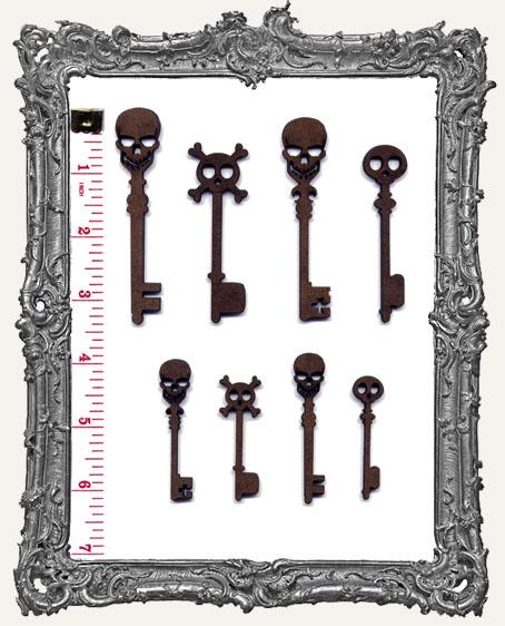 Skull Skeleton Key Cut-Outs
