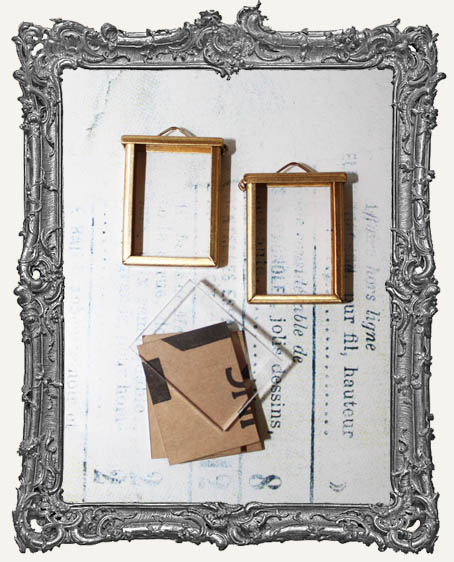 Coffee Break Design Medium Brass Flip Frame Acrylic Kit - SET OF TWO