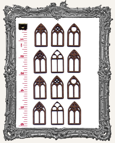 SMALL FANCY Gothic Windows PACK OF 12
