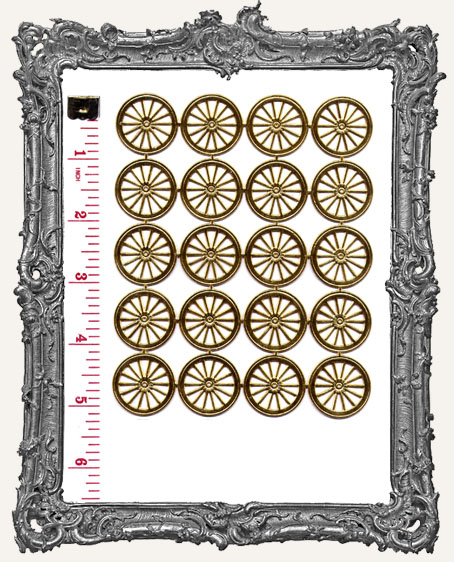 German Dresden SMALL GOLD Wheels 20 Piece