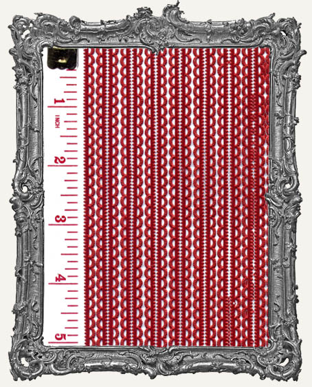 German Dresden Border Mini Scalloped RED 16 Strips