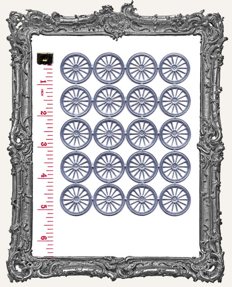 German Dresden SMALL SILVER Wheels 20 Piece
