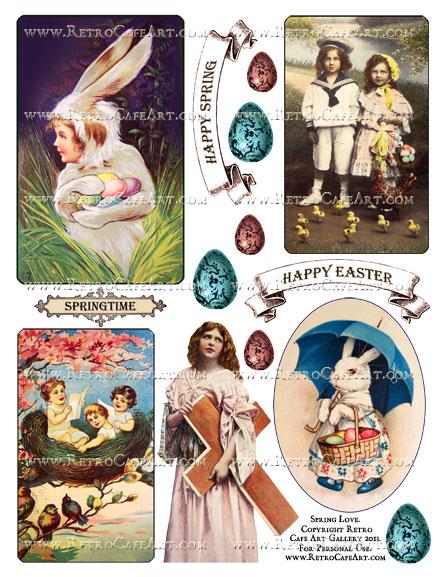 Spring Love Collage Sheet