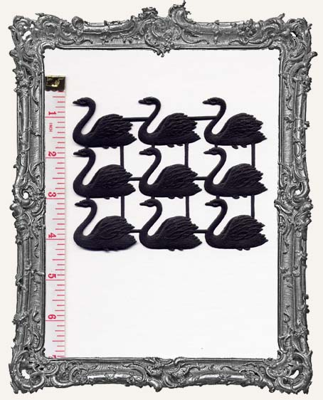 German Dresden Swans BLACK 9 Piece