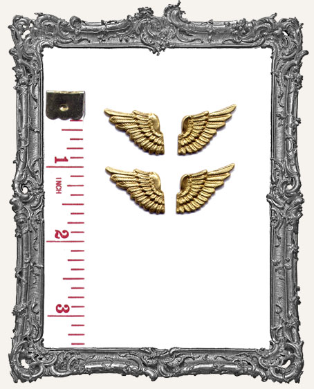 Sweet Brass Angel Wings - Set of 4