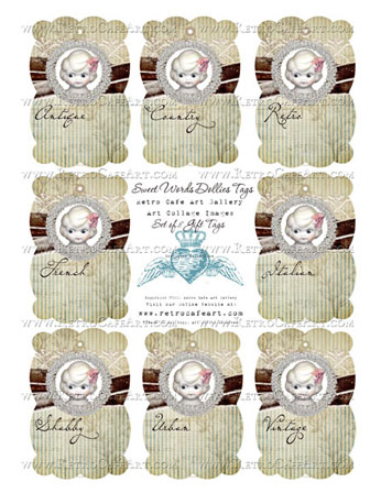 Sweet Word Dollie Tags