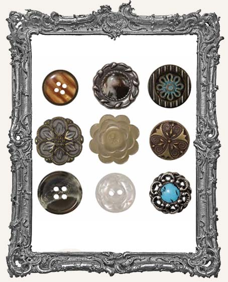 Accoutrements 9 Buttons - Tim Holtz
