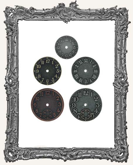 Timepieces Watch Faces 5 Pieces - Tim Holtz
