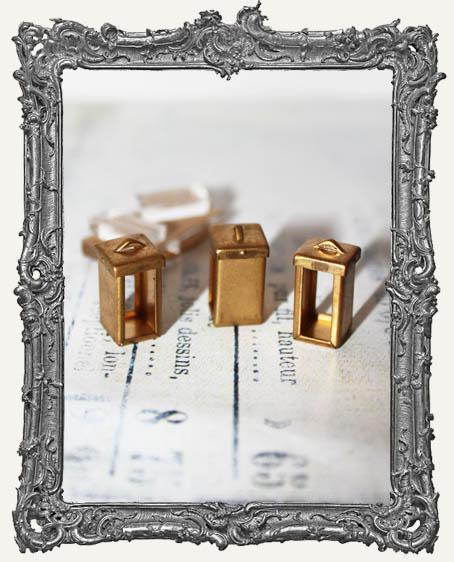 Coffee Break Design Small Brass BOX Flip Frame Acrylic Kit - SET OF THREE