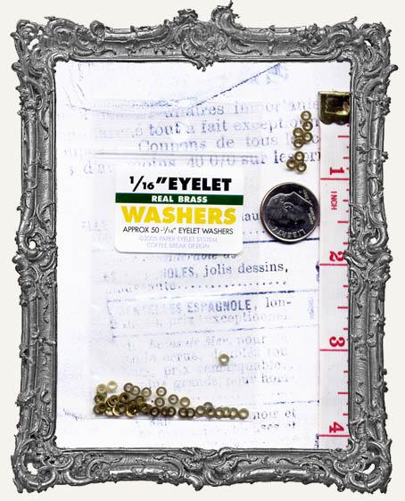 "1/16"" Eyelet Washers - Brass"