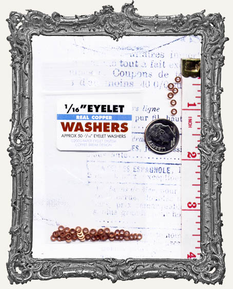 "1/16"" Eyelet Washers - Copper"