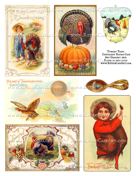 Turkey Trot Collage Sheet