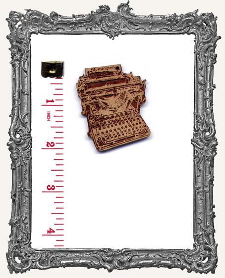 Wood Vintage Remington Typewriter Pendant
