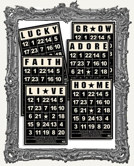 Jenni Bowlin Studio Bingo Cards 5 x 7 Inch BLACK - 6
