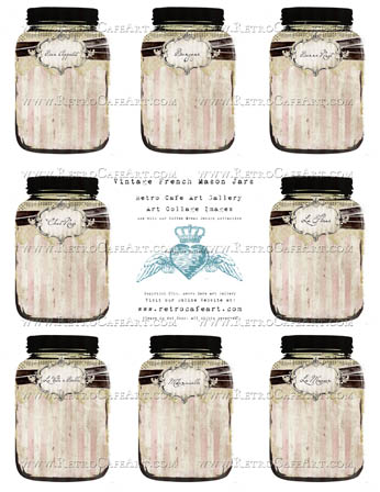 Vintage French Mason Jars