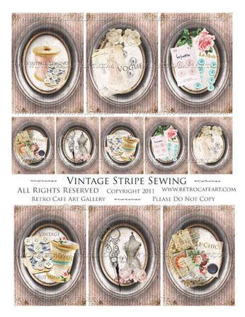 Vintage Stripe Sewing