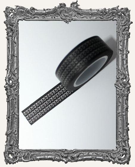Washi Tape - Black Doodle
