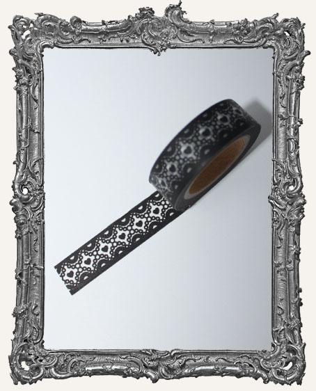 Washi Tape - Black Heart Lace