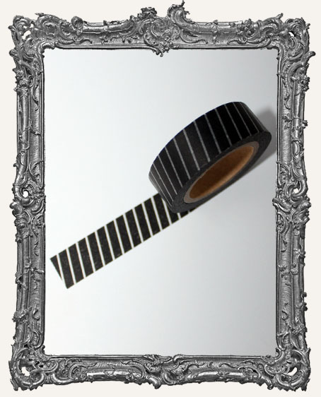 Washi Tape - Black with White Stripes