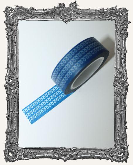 Washi Tape - Blue Doodle