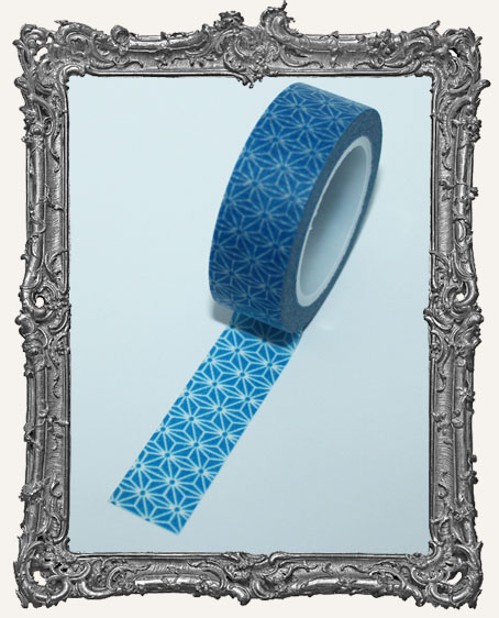 Washi Tape - Blue Star Flower