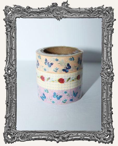 Washi Tape - Butterfly Garden SET OF 3