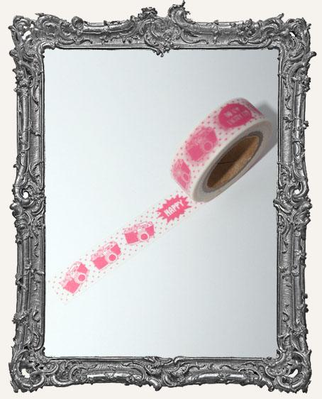 Washi Tape - Pink Cameras